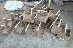 Brown Square MDF Basket And Hampers, Size/Dimension: 10x10 Inch, 400g