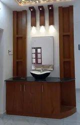 Living Room Interior Designer Wash Basin, Work Provided: Wood Work & Furniture
