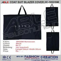 Able Black  Non- Woven Coat, Suit & Blazer Cover