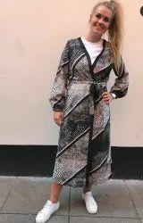 Full Sleeve Ladies Printed Georgette Jacket, Size: S-XXL