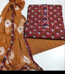 Jaipuri Print Gota Patti Suit Piece