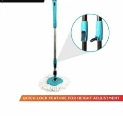 Mop Rod Stick Stainless Steel with 1 Refill 360 Degree Rotating Pole (Multi-Colour)