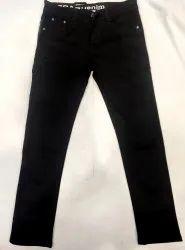 Casual Wear Stretchable Black Denim Jeans, Size: 28-34, Handwash