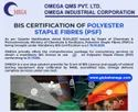 Consultancy for BIS Certification for Polyester Staple Fibres IS 17263