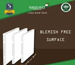 Cool Top Roof Tiles - White Feet Tile - Silverplus - 254mm X 254mm X 15mm