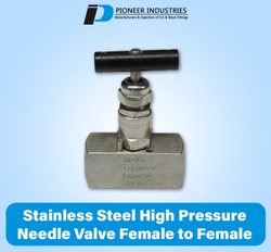 Stainless Steel High Pressure Needle Valve Female To Female
