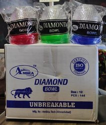 Plastic Unbreakable Glass, Diamond Designed Glass