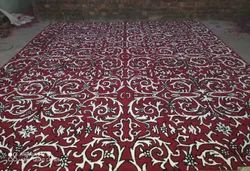 Red Luxury Hotels Flooring Carpets 15 To 20.mm Thickness