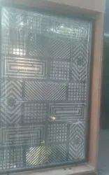 Black Paint Coated 6feet Designer Metal Main Door
