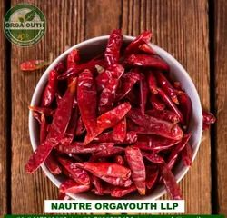 Organic Red Chilli Whole, Packaging Size: 25 Kg