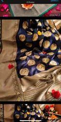 Party Wear Weaving Design Soft Banarasi Silk Saree, 6.3 m (With Blouse Piece)