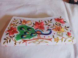 Silk Embroidered Clutch Purse