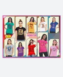 THANVIKA Half Sleeve Ladies T Shirt, 160