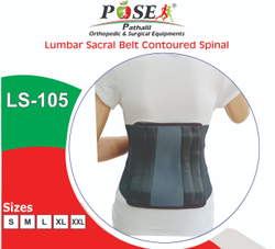 Pose Lumbo-sacral Lumber Sacral Back Support Contoured Double Lock, For Physiotherapy Equipment's