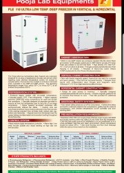 Stainless Steel 300 L Ultra Low Temperature Freezer, -40 To -80 Deg C