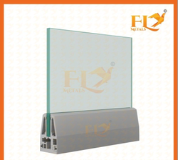 Anodize Wooden Champaign Cover Slop Regular Aluminum Glass Railing, Material Grade: T6- 6063 Homogenize