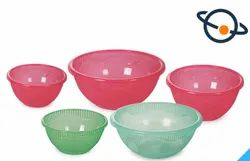 Red Plastic Mixing Bowl Saloni, For Home