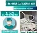 5 Mm Round Flat Mask Elastic