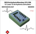 ECG Arrhythmias Simulator LCD Display 12L-15A-P