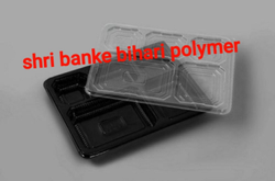 5 Portion Plastic Meal Trays