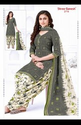 Women Cotton Shree Ganesh Ladies Suits