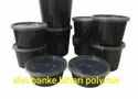 Round Black Food Container