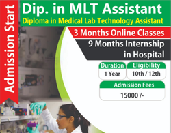 1 12 Months Diploma In MLT Assistant, Location: New Delhi