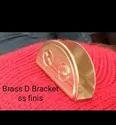 D Bracket Brass