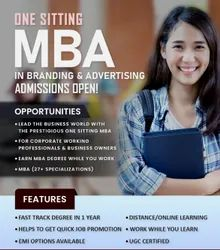 Distance Learning MBA in Branding & Advertising Management in One Sitting, in Pan India