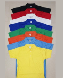 Polycotton JMP Plain Collar Half/Sleeve T Shirt