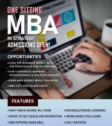 MBA in Strategy Degree in One Sitting