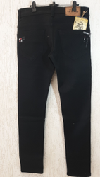 Cotton Plain Black Jean's Brand Patern, Waist Size: 28 To 36