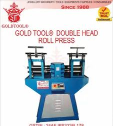 Electric Jewellery Double Head Rolling Machine, Automation Grade: Semi-Automatic