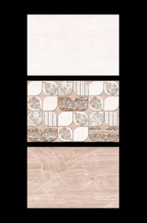 Somany Brown 12x18 CM Designer Bathroom Wall Tiles, Thickness: 10 mm