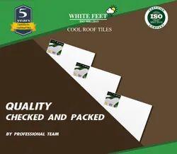 Roof White Tiles - White Feet Tile - Silverplus - 254mm X 254mm x 15mm