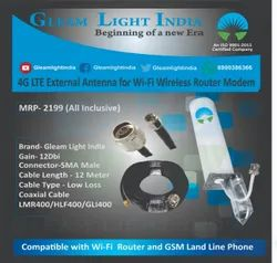 4G LTE External Antenna for Wi-Fi Wireless Router Modem with LMR 400