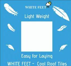 Cement Roof Tile - White Feet Tile - Silverplus