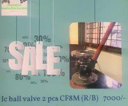 IC Two Piece Ball Valve CF8M F/e (R/B)