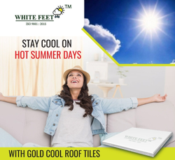 Heat Resistant Tile - Whitefeet Tile - Gold
