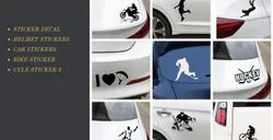 Red PVC Automobile Graphics Decals - Car Stickers, Packaging Type: Packet, Size: STD