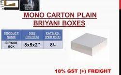 Biryani Box Unprinted Mono Carton