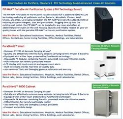 Smart Indoor Air Purifications Systems & PHI Based Clean Air Systems
