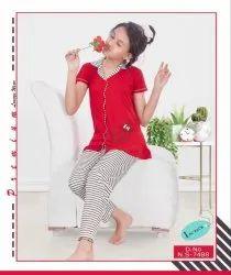 Night Dress Mix Girls Nightwear, Size: 4 To 14