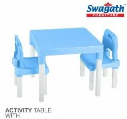 Swagath Plastic Kids Table and Chairs Set