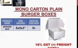 Burger Box Mono Carton Unprinted