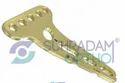 2.4/2.7mm LCP T Buttress Distal Radius Volar Locking Plate 5 Hole Head