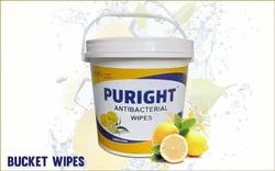 Puright 150 Pulls Antibacterial Bucket Wipes