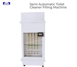Semi Automatic Toilet Cleaner Filling Machine