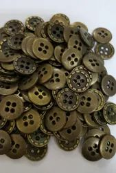 Brown Metal Garments Button, Packaging Type: Packet, Round