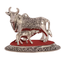 Silver Plated Kamdhenu Cow Calf Small